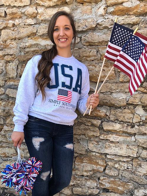 USA Raised Right Sweatshirt