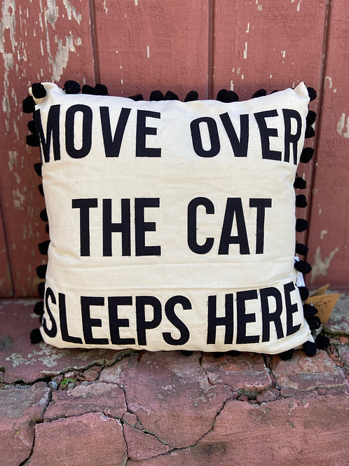 Move Over The Cat Sleeps Here