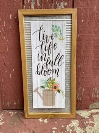 Live Life in Full Bloom Wall Decor