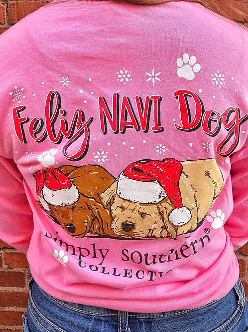 Feliz Navi Dog Christmas Tee