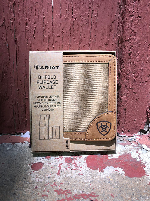Ariat Canvas Bi-Fold Flipcase Wallet