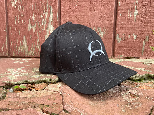 Black Plaid Cinch Cap