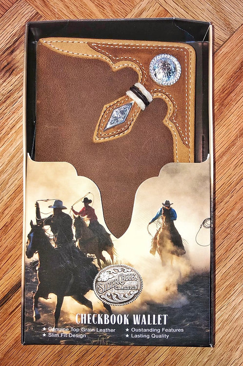 Leather Roper Wallet With Corner Embellishment