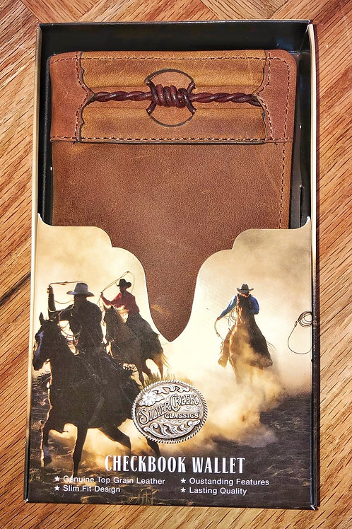 Barb Wire Leather Roper Wallet