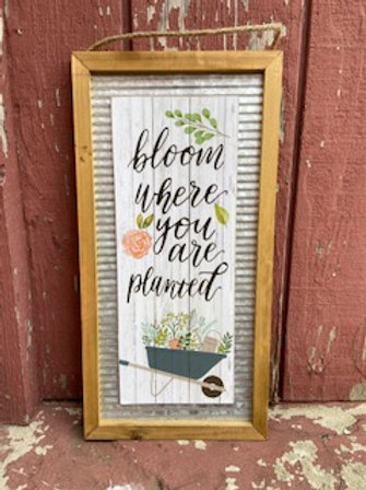 Bloom Where You Are Planted Wall Decor