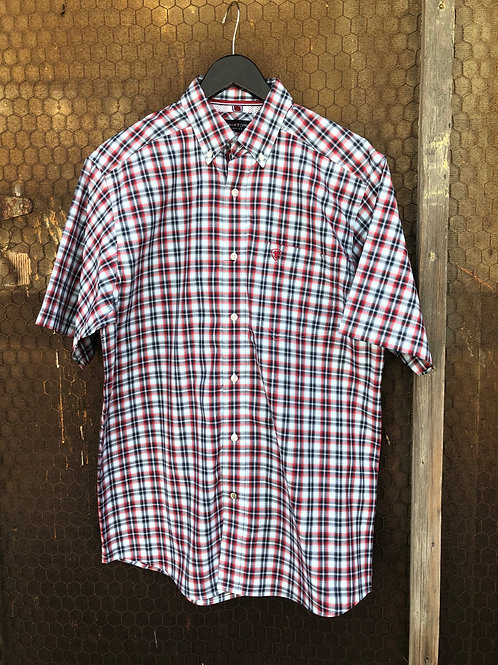 Ariat Pro Classic Fit Men's Red/Navy Plaid Shirt