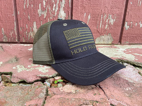 Hold Fast Black & Green Kerusso Cap