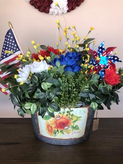 Fourth of July Flower Arrangement