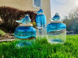 Blown Glass Jars