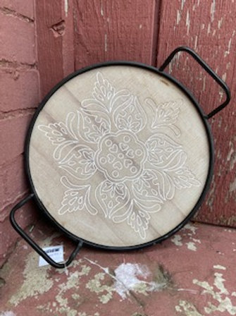 Metal & Wood Etched Tray