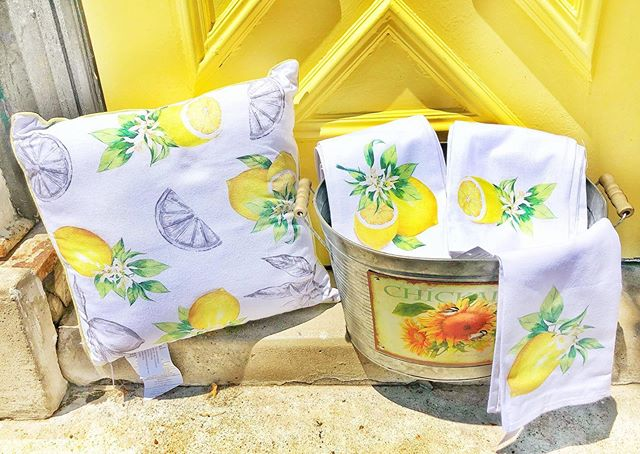 Lemon Pillow & Tea Towel