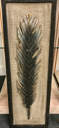 Large Metal Feather Picture