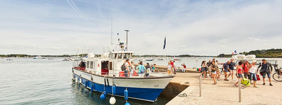 bateau navette des îles du Golfe du Morbihan