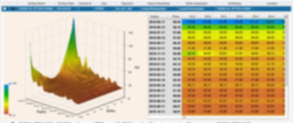 Complete option, volatility data, powerful visualization