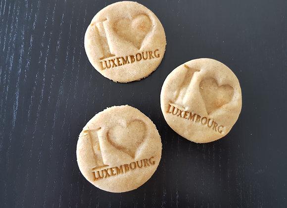 Gros biscuit I Love Luxembourg Bio et Végan