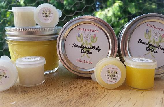 Sweet Grass Body Butter & Lip Balms