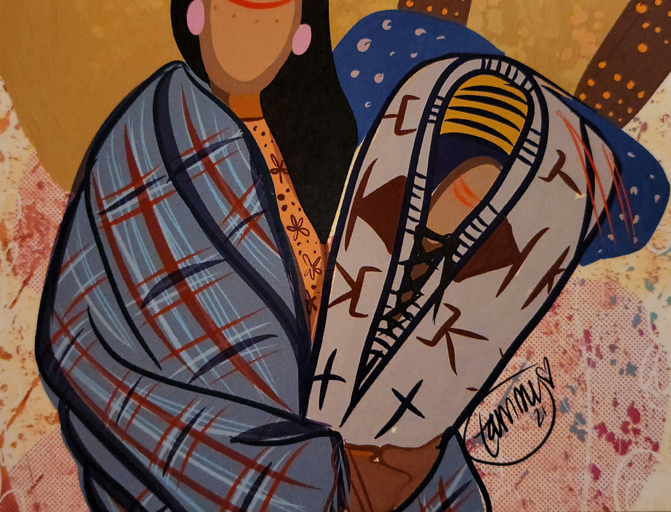 """My Mother Gave Me Life"" CARD - Art by Lakota artist Tammy Granados"