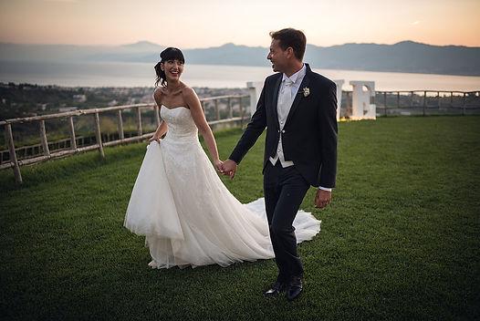 Sposi Casale tramontanta, Mare, Stretto di Messina, matrimonio Reggio Calabria