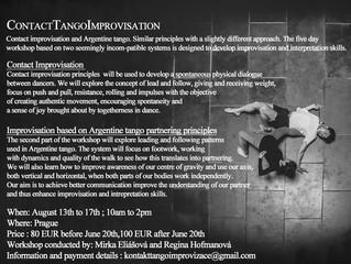 Tango + Contact Improvisation + Partnering workshop