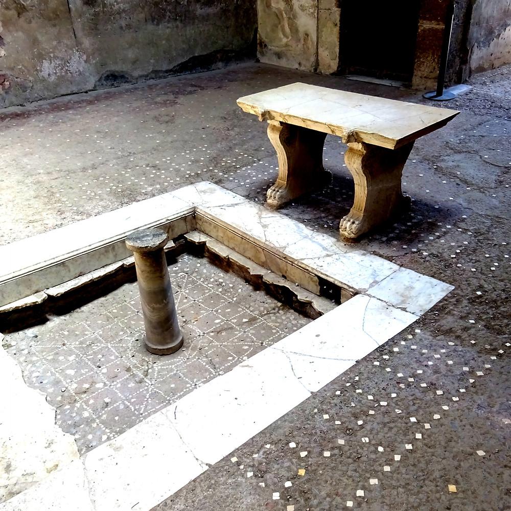 interior of a villa in Herculaneum