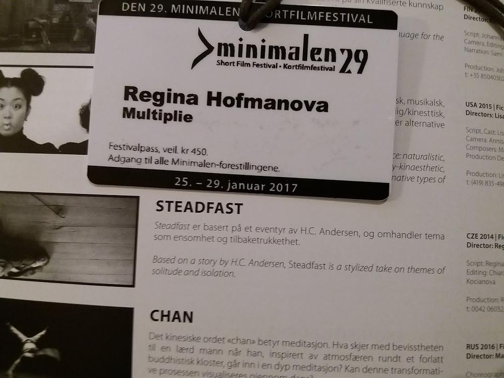 programme of Minimalen short Film Festival