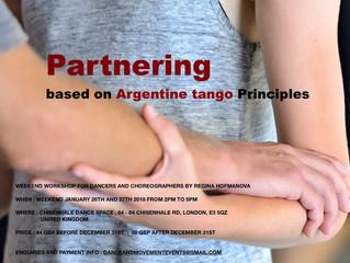 New Workshop -                      Partnering based on Argentine Tango Principles