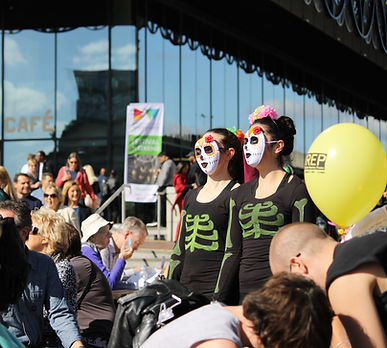 day of the dead dancers dancing birmingham big weekender