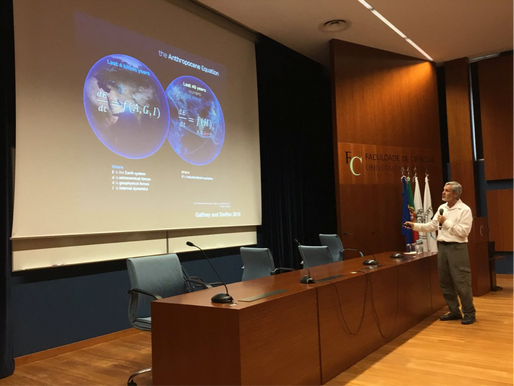 Prof. Will Steffen lecture in Faculty of Sciences of University of Porto