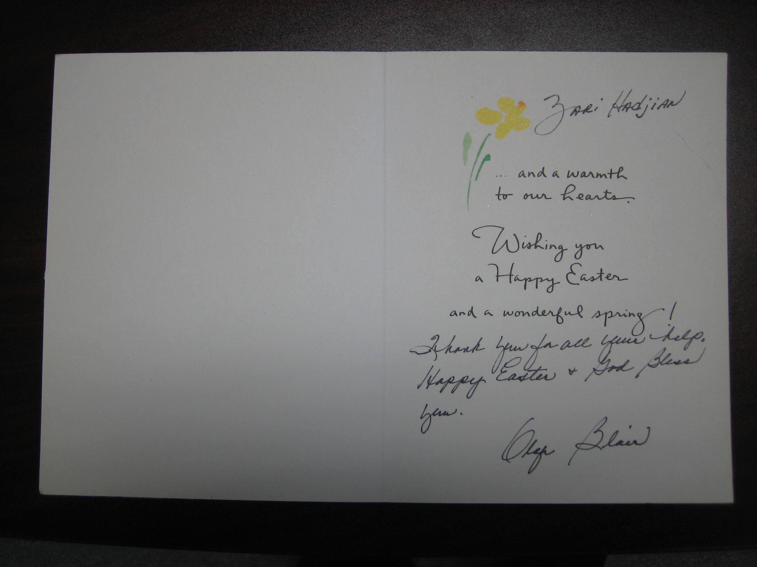 Happy Eastern Card - O. Blair