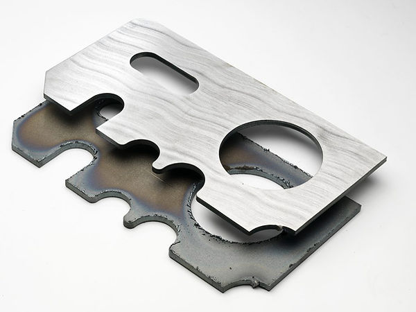 results from deburring sheet metal parts after laser cutting