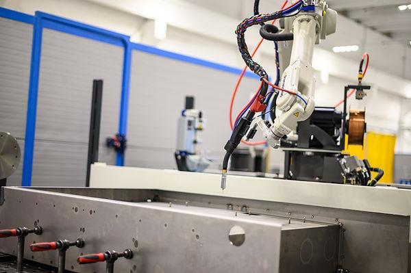 Robotic welding of sheet metal using MAG process on Panasonic Tawers welding robot
