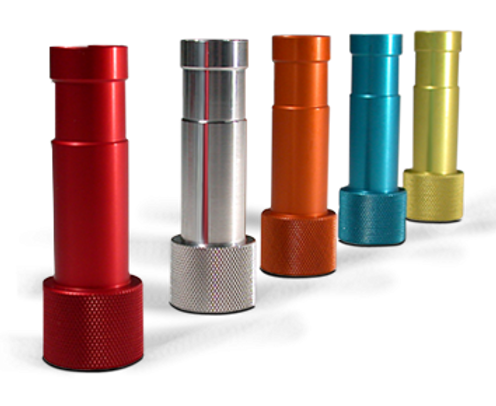 Color anodization of parts.
