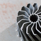 Complex cutting of 3D shapes with waterjet.