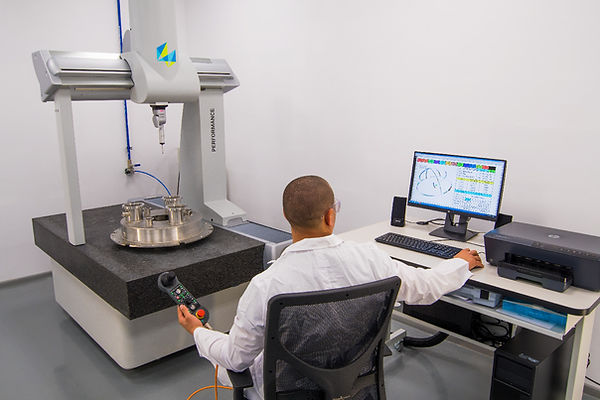 Measurement of complex parts using CMM machine.