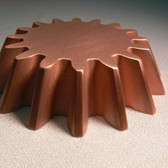 Waterjet cutting of copper.