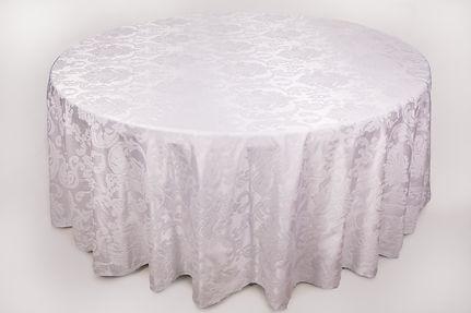 "Покривка ""White"" под наем за кръгла маса 180 см. Варна"