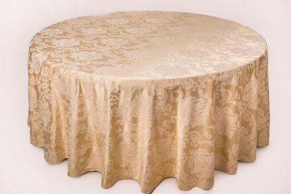 """Покривка """"Gold"""" под наем за кръгла маса 180 см. за Варна"""