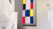 Mondrian Inspired window vinyl