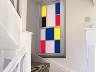 Mondrian Inspired window vinyl