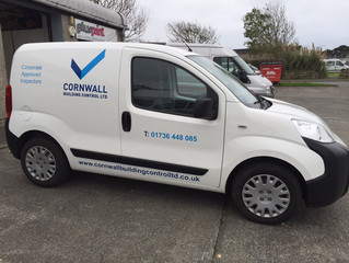 New van added to Cornwall Building Control fleet