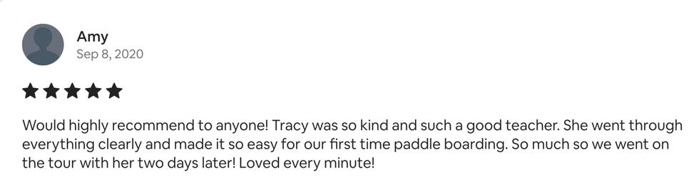 SUP customer review
