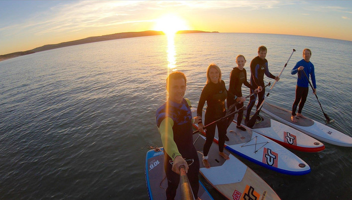 Sunset SUP St Ives Bay