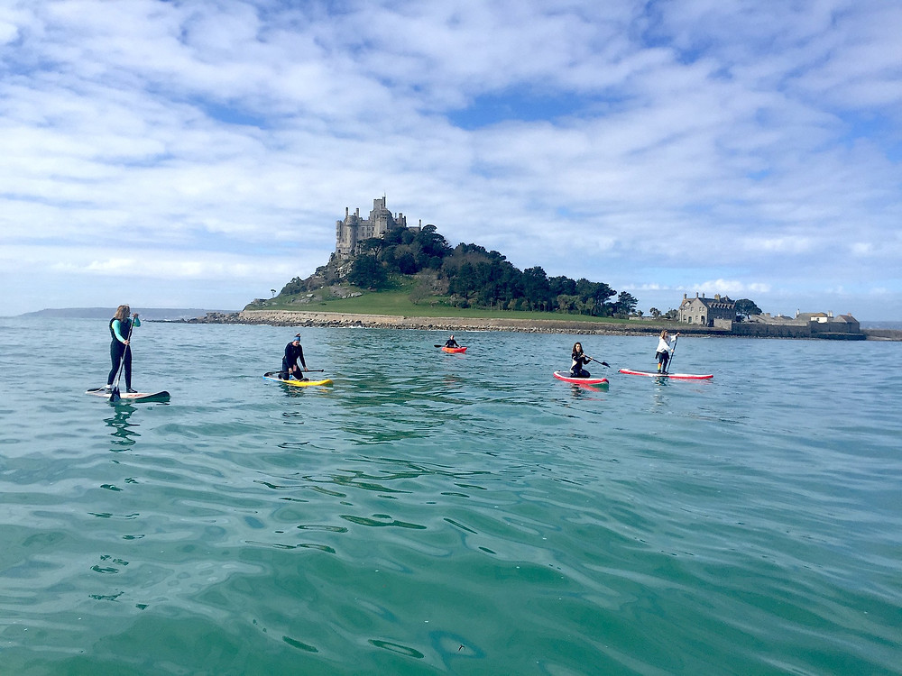 SUP club East side of St Michaels Mount