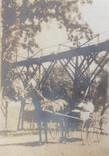 Under the footbridge
