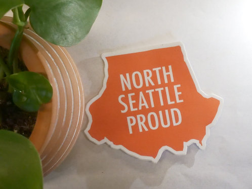 North Seattle Proud Sticker (Coral)