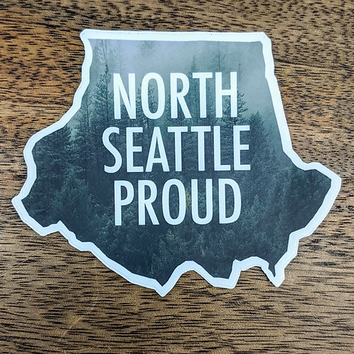 North Seattle Proud Sticker (Evergreen)