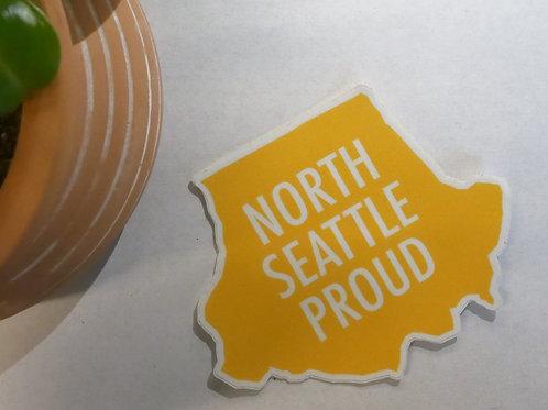 North Seattle Proud Sticker (Yellow)