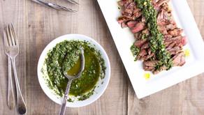 Grilled Steak with Cilantro Chimichurri