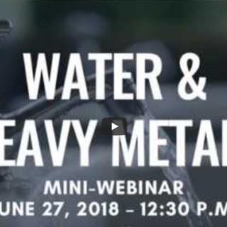 Water and Heavy metals Webinar