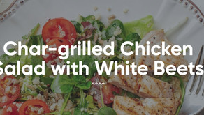 Char-Grilled Chicken Salad With White Beets